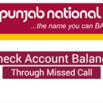 check balance punjab national bank missed call