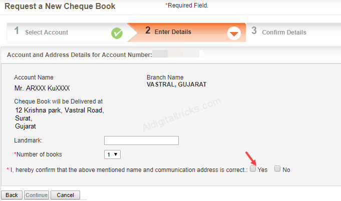 Bank of Baroda Cheque Book Request Online