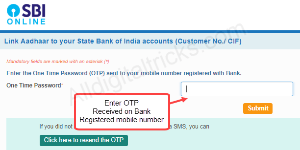 Link Aadhaar Online With SBI Without Net Banking & Mobile Banking