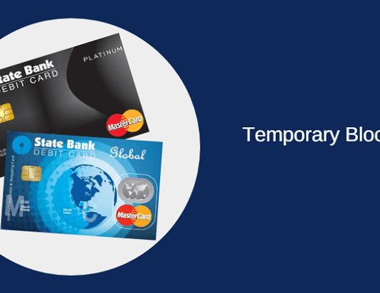 sbi atm debit card temporary block, switch off/on