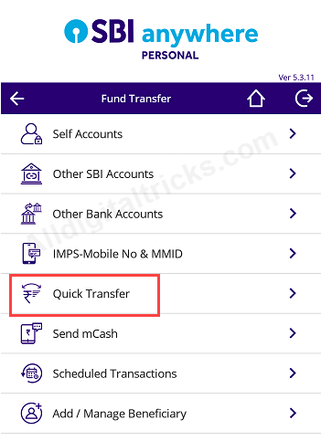 Money transfer SBI to paytm saving account