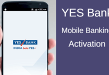 yes bank mobile banking activation