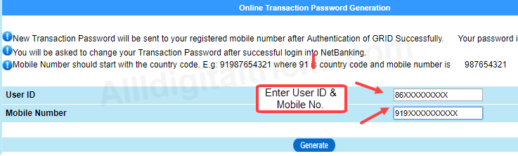 activate/register central bank of india net banking online