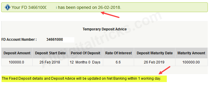 ICICI open fixed deposit online