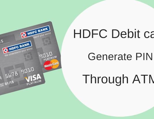 hdfc debit card pin generate atm