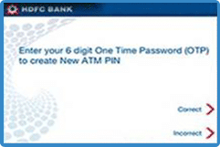 hdfc debit card  pin generate atm