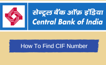 central bank of india find CIF number