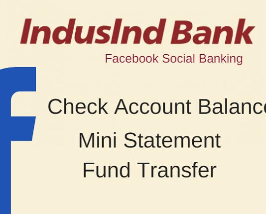 indusind bank facebook banking