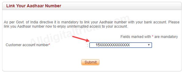 Indusind Bank Link Aadhaar Online