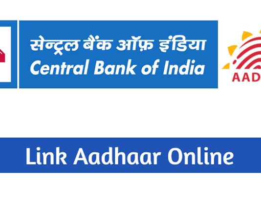 link aadhaar central bank of India
