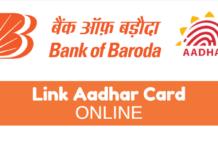 Link Aadhaar Online Bank of Baroda