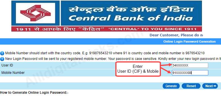 e net banking corporate