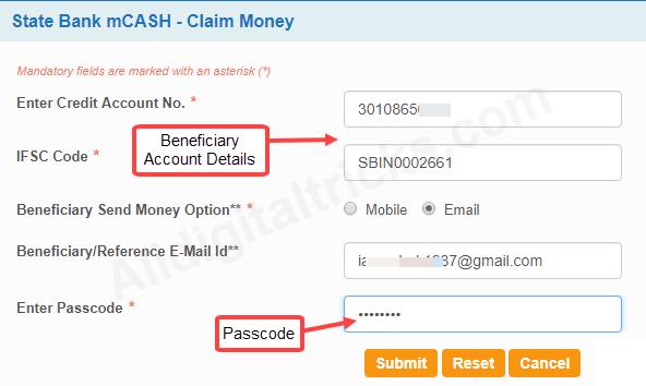 SBI mCash - How To Send & Receive Money Online - AllDigitalTricks