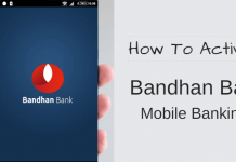activate/register Bandhan Bank Mobile Banking