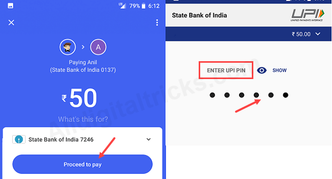 SBI account Google tez link, transfer money, view balance