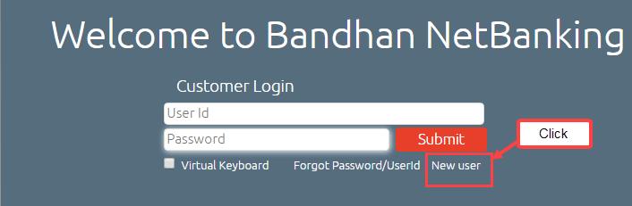 Bandhan Bank net banking register activate online