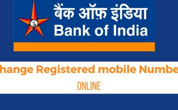 change registered mobile number Bank of India (BOI)