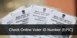 check online voter id number EPIC number