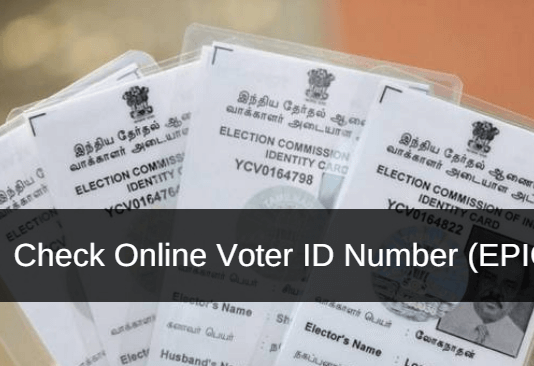 check online voter id number EPIC number
