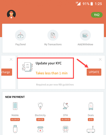 Freecharge wallet kyc online