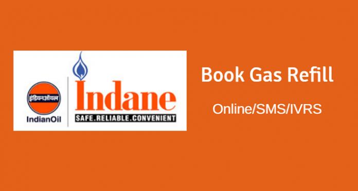 Indane Gas book Online, SMS, IVRS