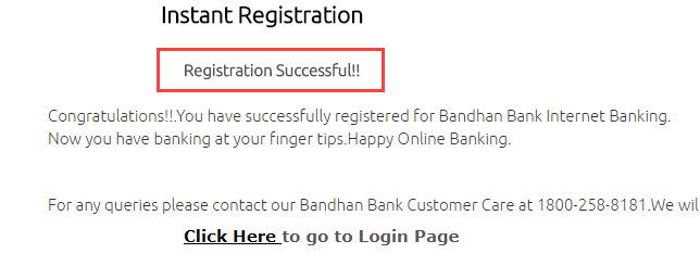 Bandhan Bank net banking register activate online