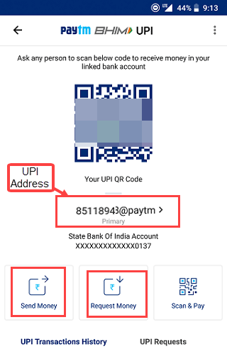 paytm bhim upi link bank account and how to use