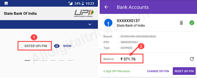 PhonePe Check SBI Account Balance