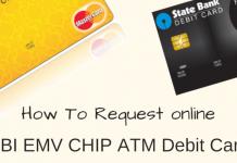 SBI EMV CHIP ATM Debit card request online