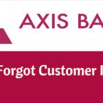Axis Bank forgot customer ID