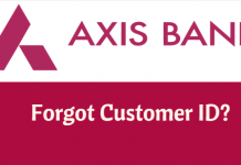 Axis Bank forgot customer ID