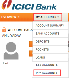 Open PPF account online ICICI Bank