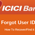 forgot ICICI User ID - recover/find online