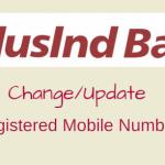 Indusind Bank change registered mobile number online