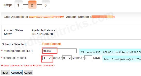 Open Fixed Deposit online Bank of Baroda