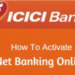 register activate ICICI net banking online