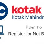 Register activate Kotak Mahindra Bank net banking online