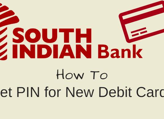 South Indian bank debit card pin set create generate