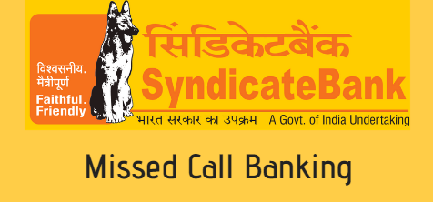 Syndicate bank account balance check missed call number