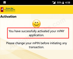 register activate vijaya bank mobile banking
