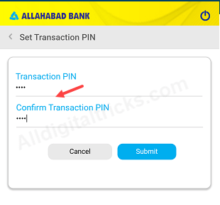 activate Allahabad bank mobile banking