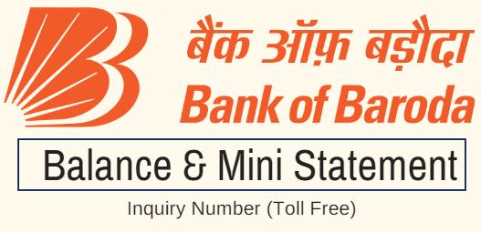 bank of baroda check balance toll free number