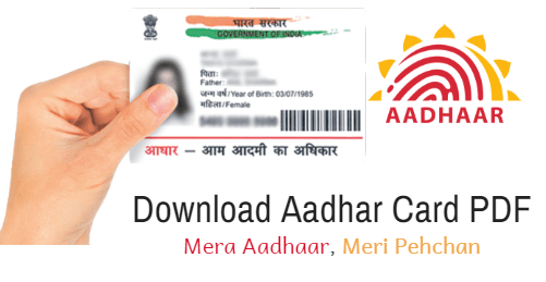 download aadhaar card PDF