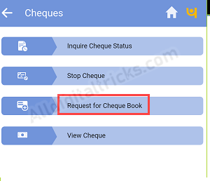 PNB ChequeBook Request