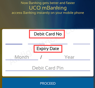 UCO Bank Mobile Banking register activate