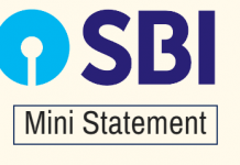 sbi account mini statement