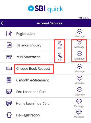 SBI Quick register and how to use