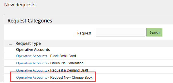 request Union Bank of India Cheque Book