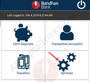 Bandhan Bank request Cheque Book online