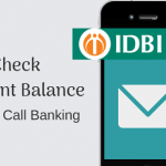 IDBI Bank account balance check missed call